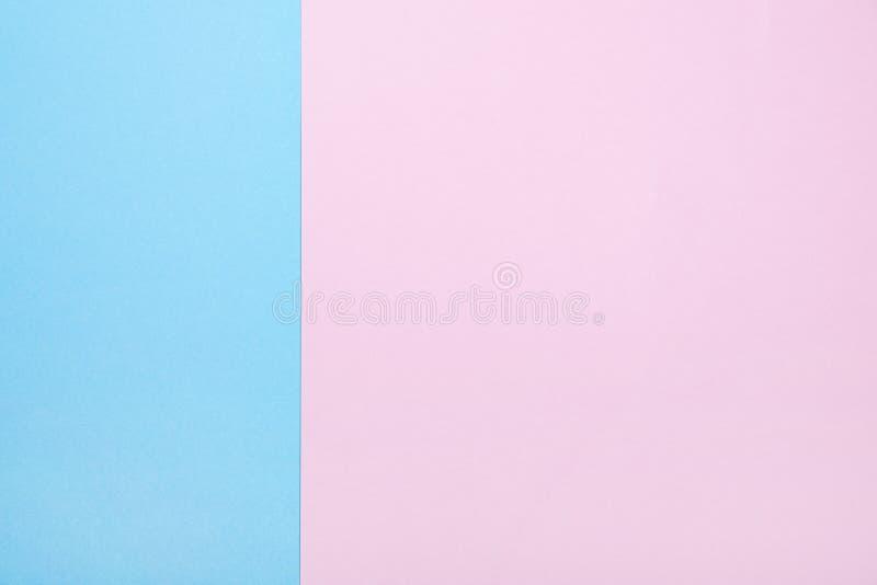 Fondo del papel rosado y azul fotografía de archivo libre de regalías