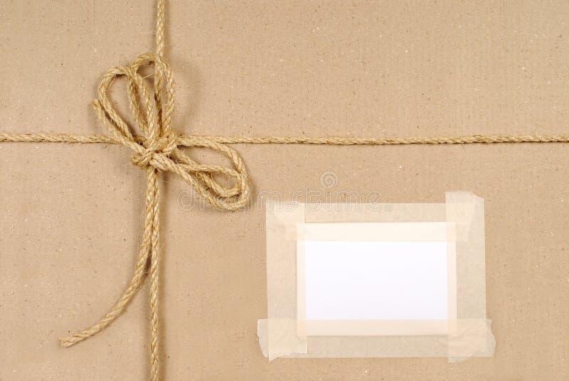 Fondo del paquete de Brown con la secuencia fotografía de archivo libre de regalías