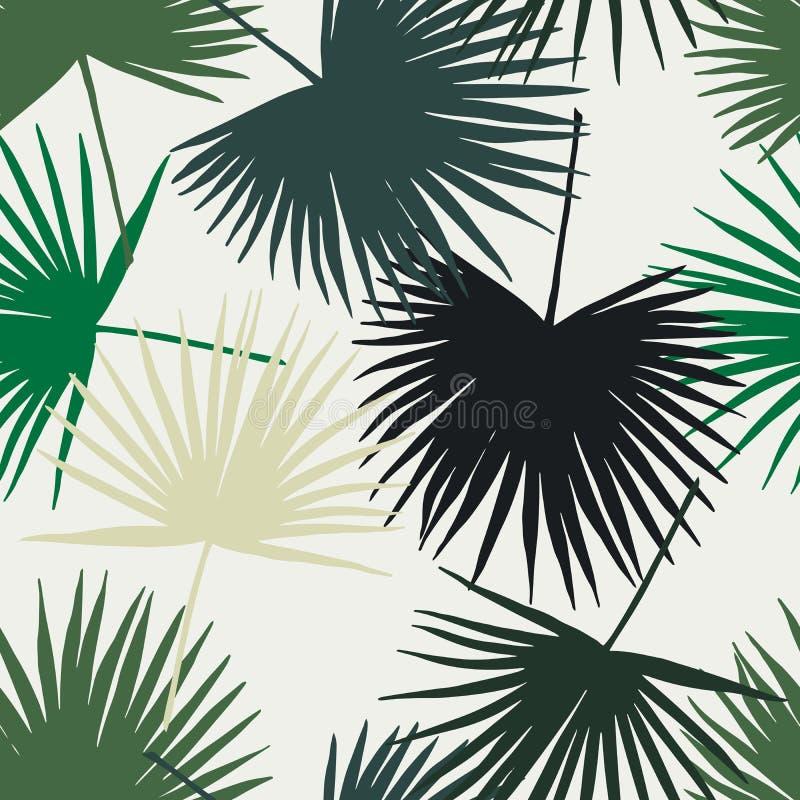 Fondo del paraíso de las hojas de palma ilustración del vector