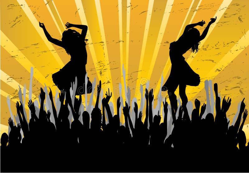 Fondo del partido de danza stock de ilustración