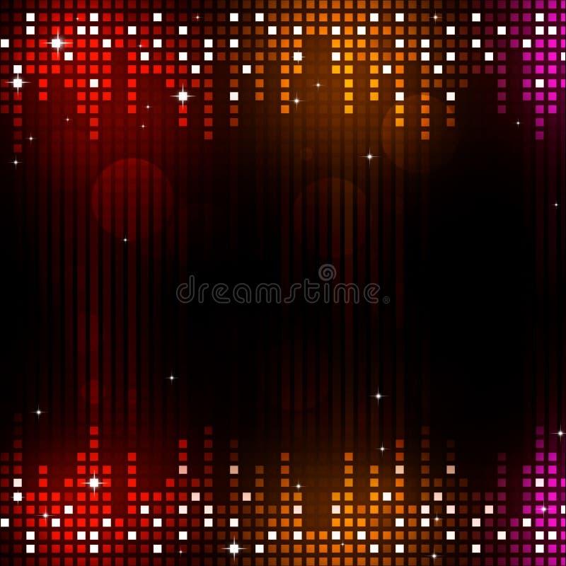 Fondo del partido de la música de danza ilustración del vector