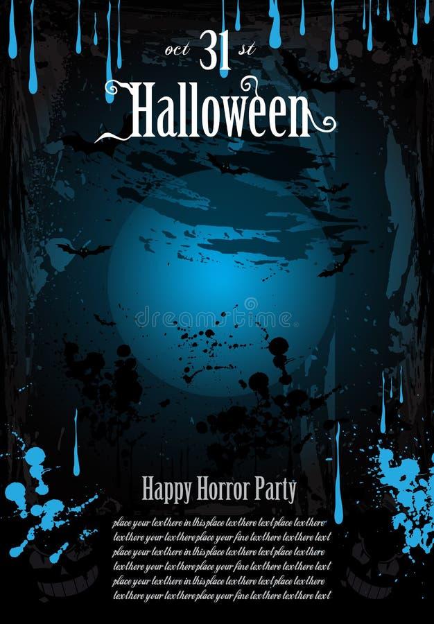 Fondo del partido del horror del miedo de Halloween stock de ilustración