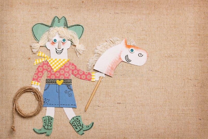 Fondo del partito del cowgirl per testo immagini stock