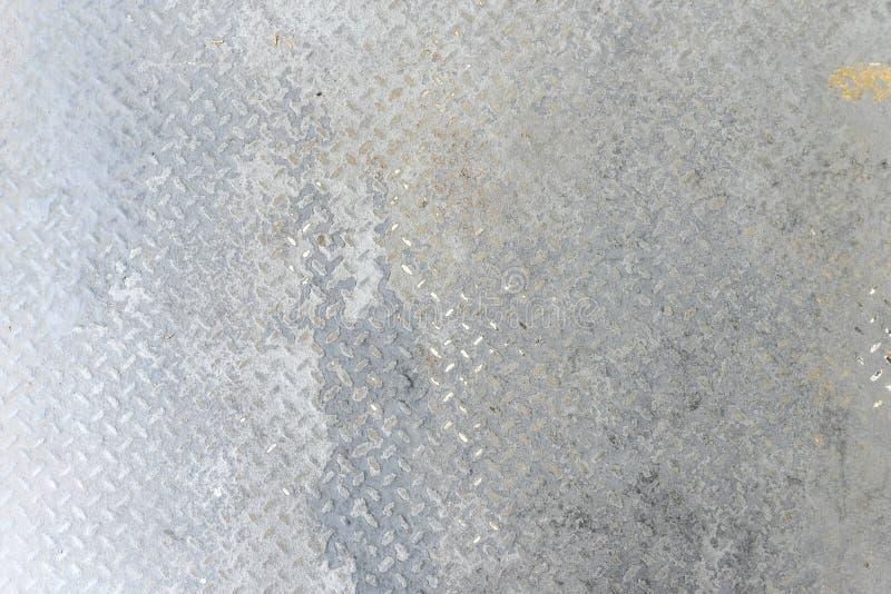 Fondo del pavimento della lamina di metallo di lerciume fotografia stock libera da diritti