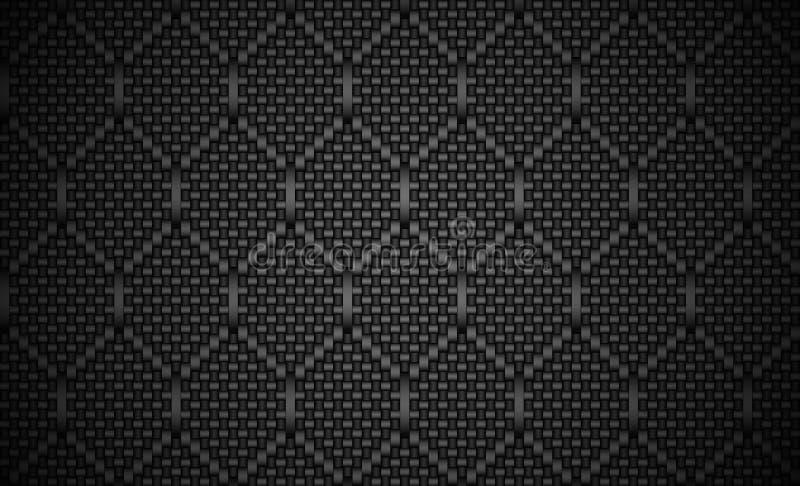 Fondo del peine de la miel de la fibra de carbono Vector del EPS 10 stock de ilustración