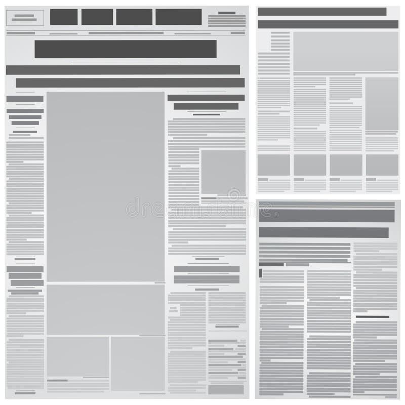 Fondo del periódico ilustración del vector