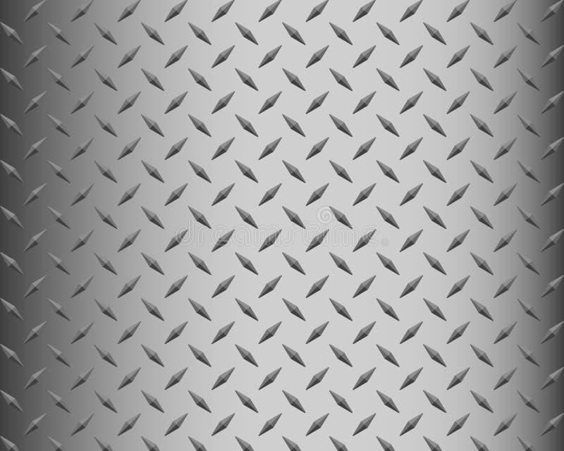 Fondo del piatto del diamante del metallo immagini stock