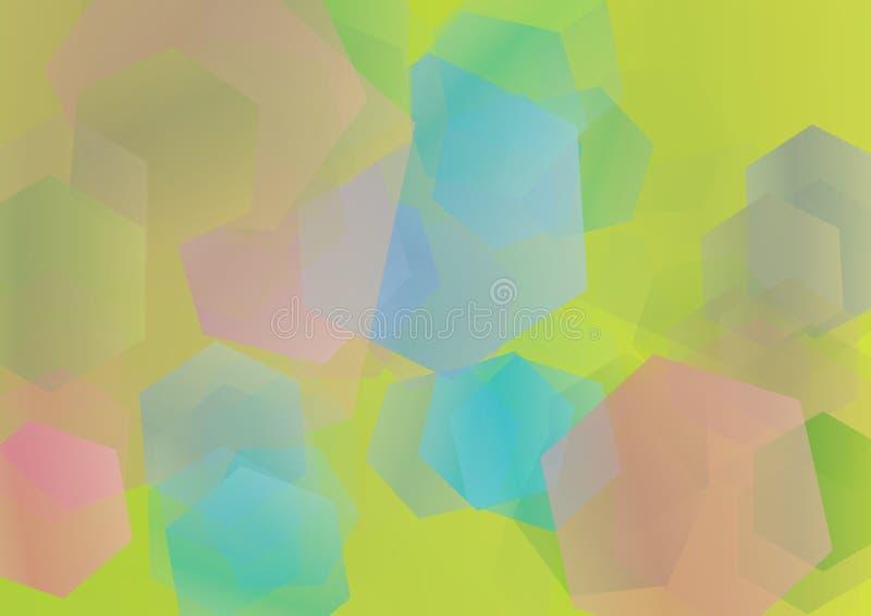 Fondo del polígono ilustración del vector