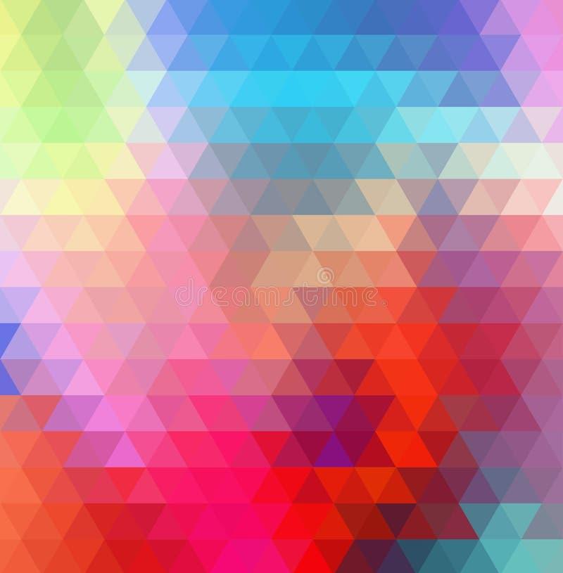 Fondo del polígono del arco iris del remolino o marco colorido del vector ilustración del vector