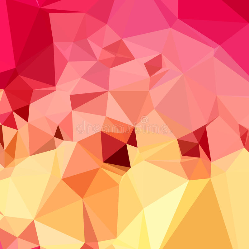 Fondo del polígono de Rose Bonbon Pink Abstract Low ilustración del vector