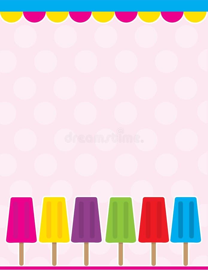 Fondo del Popsicle stock de ilustración