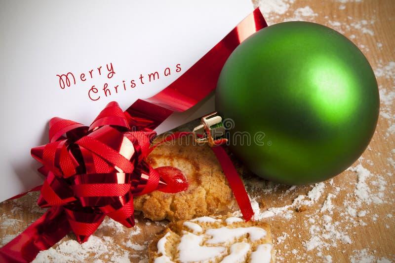 Fondo del postre de la Navidad imagen de archivo