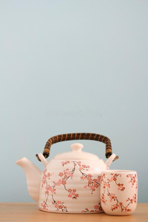 Fondo del pote del té imagen de archivo libre de regalías