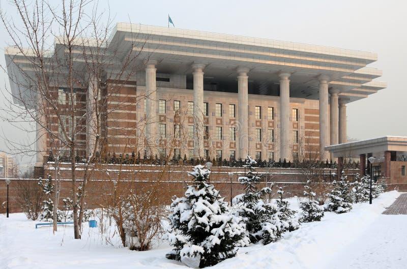 Fondo del presidente Kazajistán en Almaty imagenes de archivo