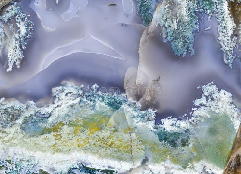 Fondo del primer del ópalo pulido del musgo imágenes de archivo libres de regalías