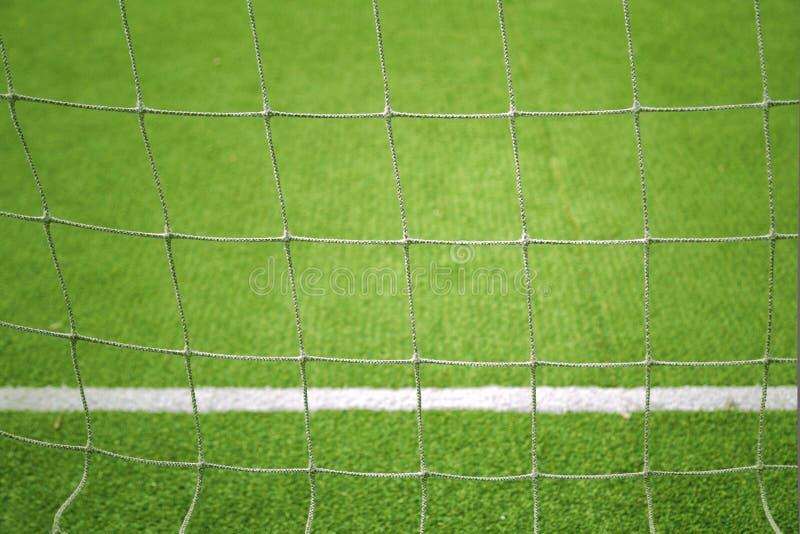 Fondo del primo piano della rete di calcio fotografia stock libera da diritti