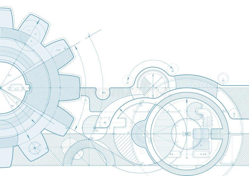 Fondo del proyecto del engranaje ilustración del vector