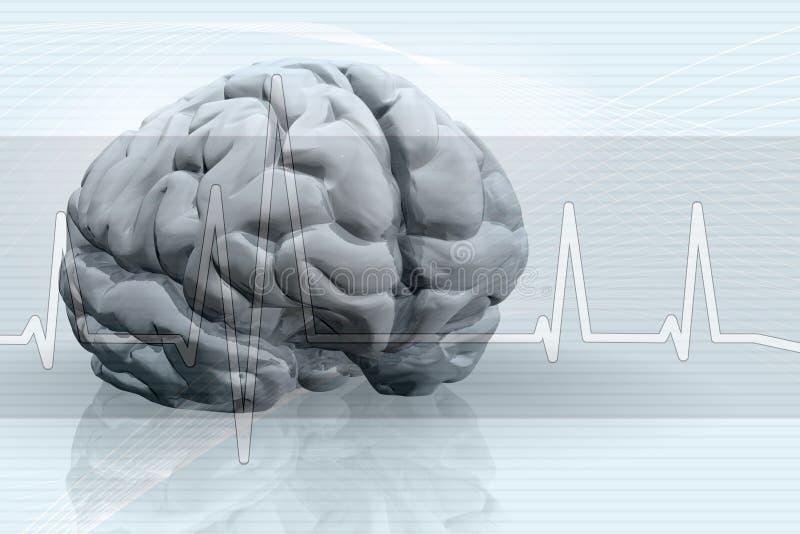 Fondo del pulso del cerebro ilustración del vector