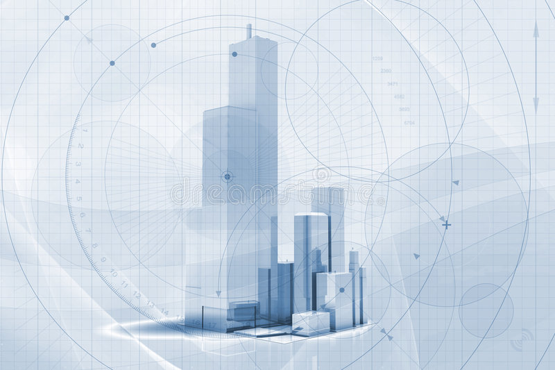 Fondo del rascacielos libre illustration