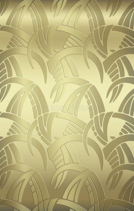 fondo del recubrimiento de paredes del oro de la vendimia ilustración del vector