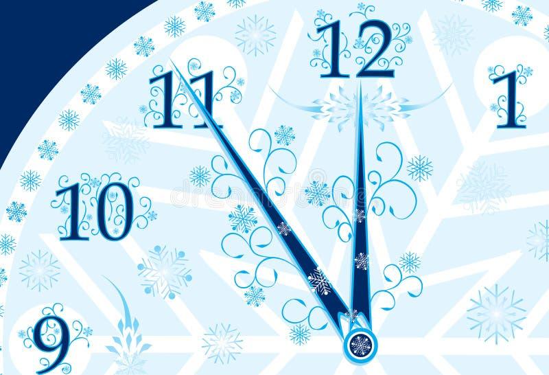 Fondo del reloj del Año Nuevo, vector ilustración del vector