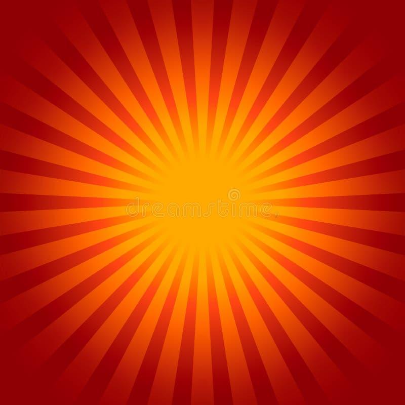Fondo del resplandor solar ilustración del vector