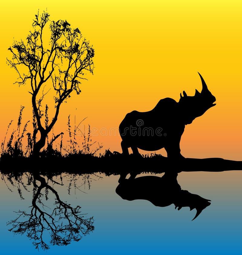 Fondo del rinoceronte ilustración del vector