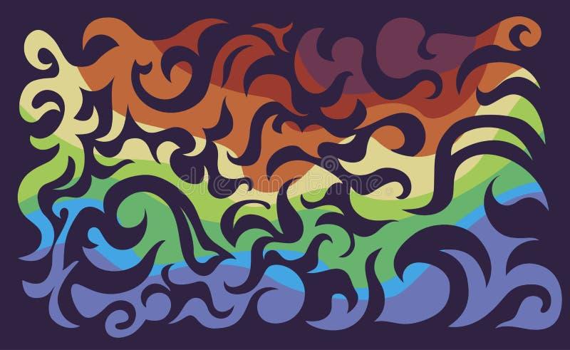 Fondo del rizo del color fotos de archivo
