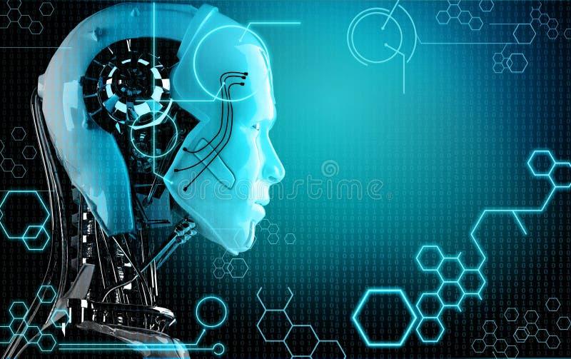Fondo del robot del computer illustrazione di stock