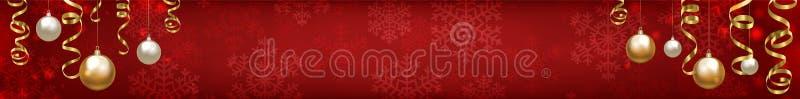 Fondo del rojo de la Navidad ilustración del vector