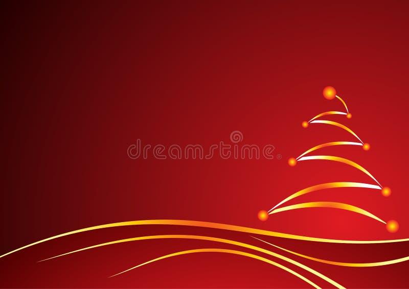Fondo del rojo de la Navidad stock de ilustración