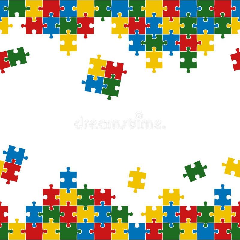 Fondo del rompecabezas colorido y sin fin ilustración del vector