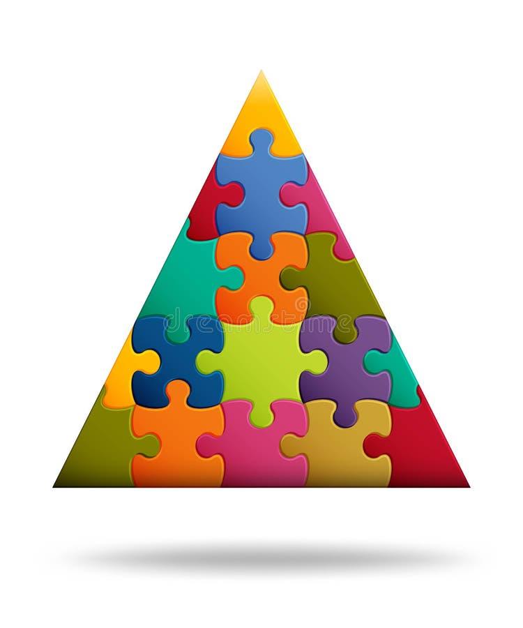 Fondo del rompecabezas con muchos pedazos coloridos Plantilla abstracta del mosaico Forma del toro ilustración del vector
