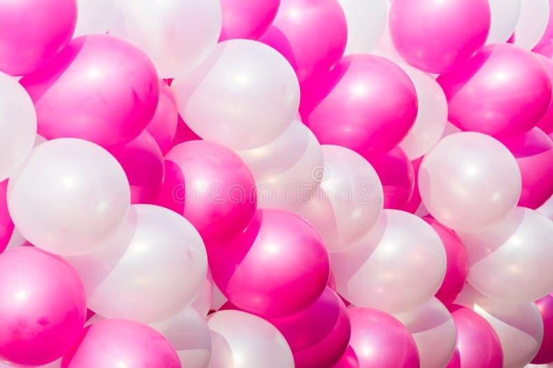 Fondo del rosa y blanco del globo foto de archivo libre de regalías