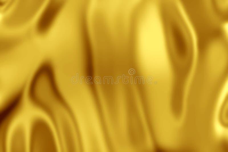 Fondo del satén de la tela del oro amarillo imágenes de archivo libres de regalías