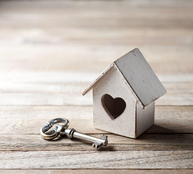 Fondo del seguro de la tecla HOME de la casa foto de archivo