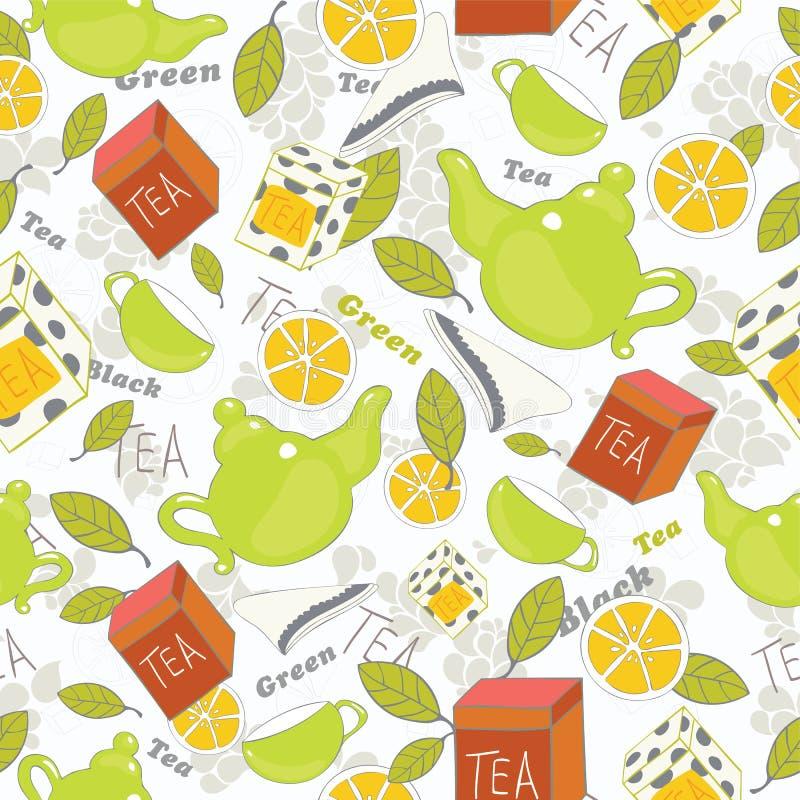 Fondo del tè royalty illustrazione gratis