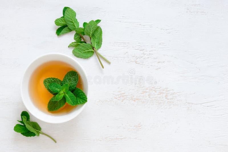 Fondo del tè condito menta fotografia stock