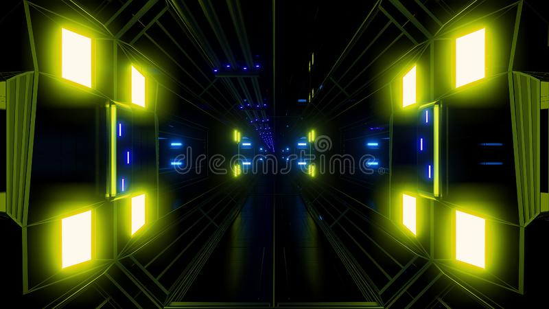 Fondo del túnel del hangar del espacio de la ciencia ficción de Futuritstic libre illustration