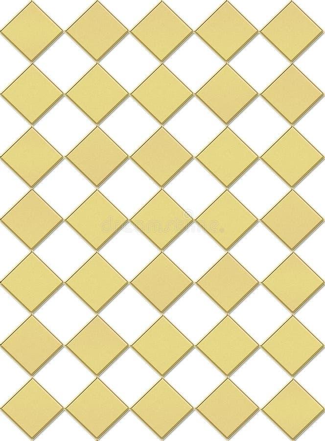 Fondo del tablero de damas en oro stock de ilustración