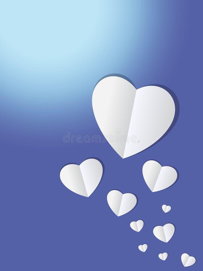Fondo del taglio della carta del cuore immagini stock libere da diritti