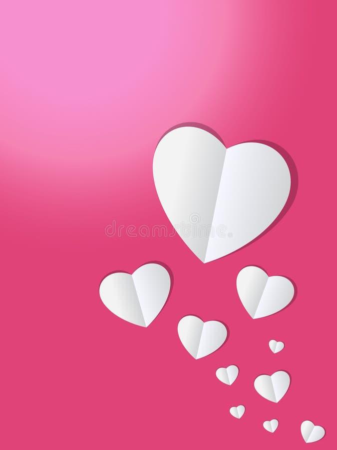 Fondo del taglio della carta del cuore fotografie stock libere da diritti