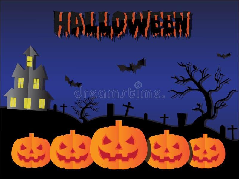 Fondo del taglio della carta di Halloween immagine stock
