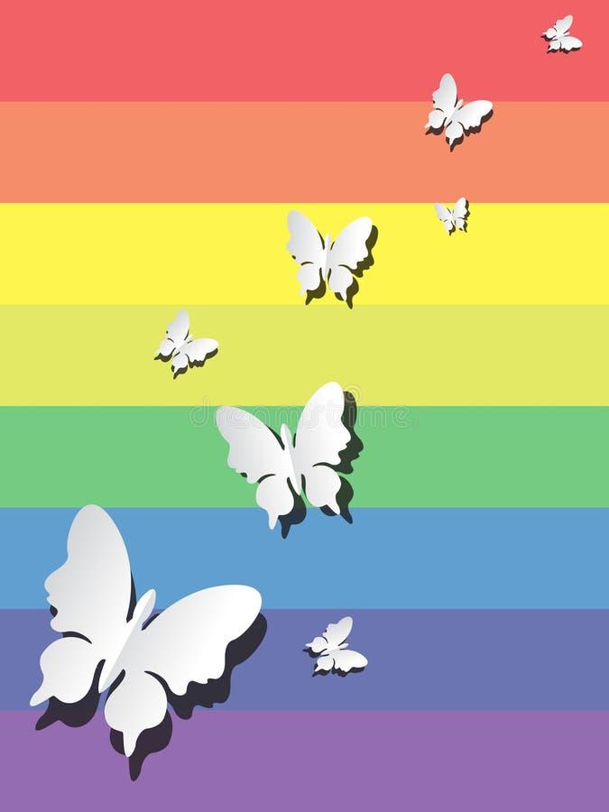 Fondo del taglio della carta della farfalla immagine stock
