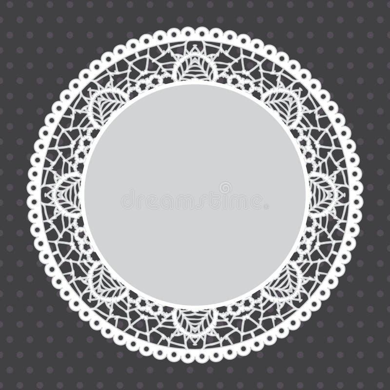 Fondo del tapetito de Gray Lace ilustración del vector