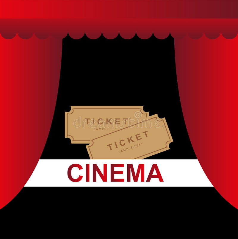Fondo del teatro del cine stock de ilustración