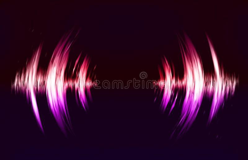 Fondo del techno del vector con la vibración sana crcular libre illustration