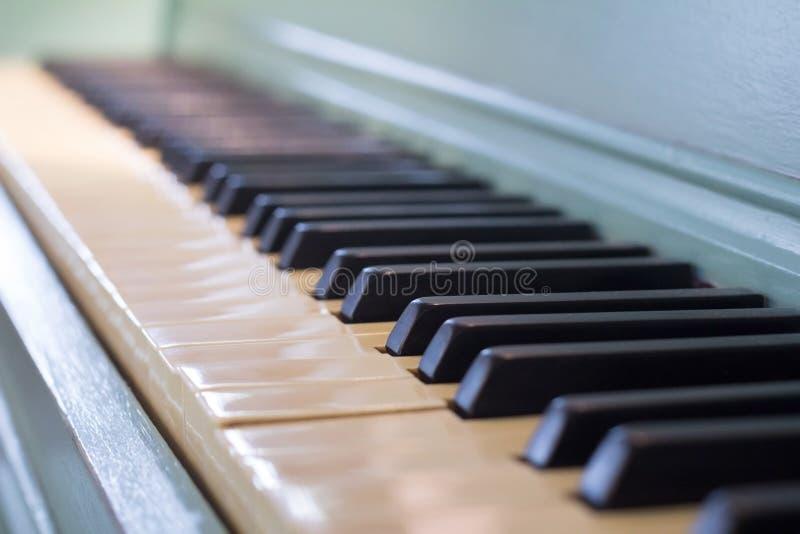 Fondo del teclado de piano foto de archivo libre de regalías