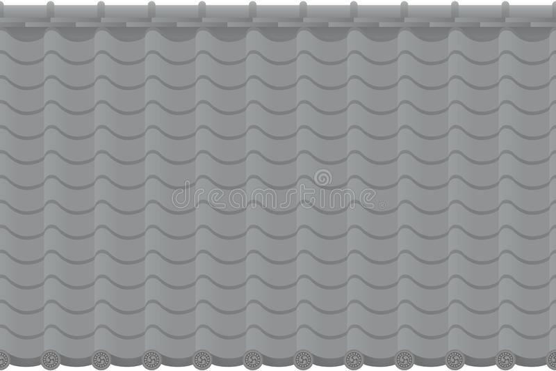 Fondo del tejado tejado ilustración del vector