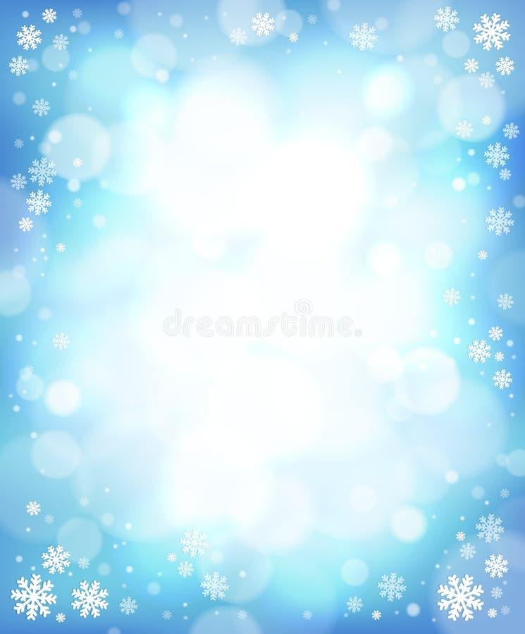 Fondo 4 del tema del invierno stock de ilustración